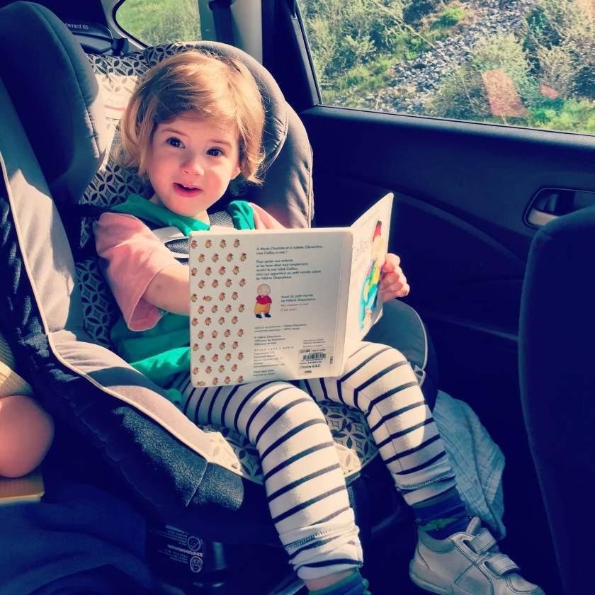Martha dans la voiture pour aller à Burlington au Vermont